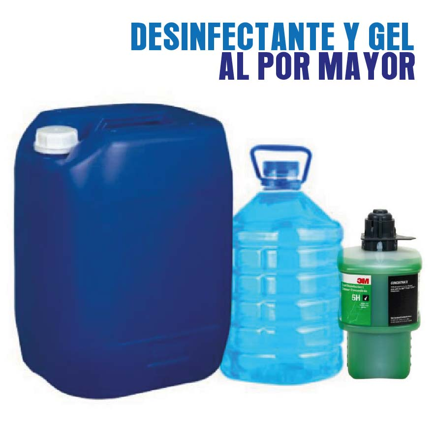 Gel antibacterial desinfectante por mayor